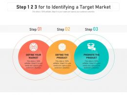 Step 1 2 3 For To Identifying A Target Market