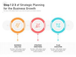 Step 1 2 3 Of Strategic Planning For The Business Growth