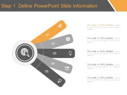Step 1 Define Powerpoint Slide Information