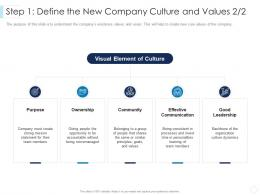 Step 1 Define The New Company Culture And Values Good Leaders Guide To Corporate Culture Ppt Grid
