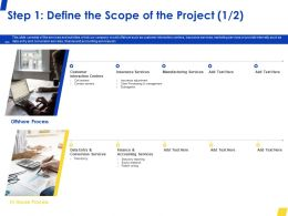 Step 1 Define The Scope Of The Project Customer Ppt Powerpoint Presentation Summary Example