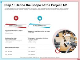 Step 1 Define The Scope Of The Project Statutory Reporting Ppt Powerpoint Presentation Show