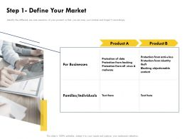Step 1 Define Your Market Businesses Ppt Powerpoint Presentation Layouts Rules