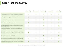 Step 1 Do The Survey Management Division Ppt Powerpoint Presentation Layouts Templates