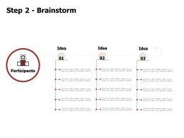 Step 2 Brainstorm Audience Idea Ppt Powerpoint Presentation Picture