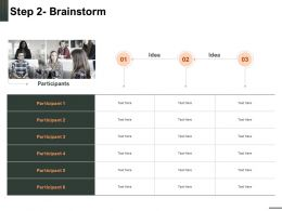 Step 2 Brainstorm Idea Ppt Powerpoint Presentation Portrait