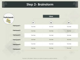 Step 2 Brainstorm Participant Ppt Powerpoint Presentation Icon Slides