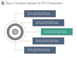 Step 3 Analysis Sample Of Ppt Presentation