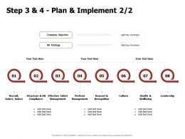 Step 3 And 4 Plan And Implement Compliance Ppt Powerpoint Presentation File Microsoft