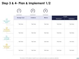 Step 3 And 4 Plan And Implement Metrics Ppt Powerpoint Presentation Pictures Topics