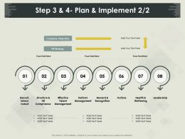 Step 3 And 4 Plan And Implement Wellbeing Ppt Powerpoint Presentation Icon Tips