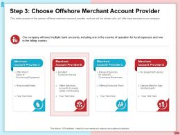 Step 3 Choose Offshore Merchant Account Provider Billing Country Ppt Presentation Layouts