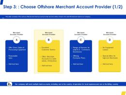 Step 3 Choose Offshore Merchant Account Provider Service Ppt Powerpoint Presentation Outline Graphics