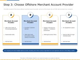 Step 3 Choose Offshore Merchant Account Provider Wide Ppt Powerpoint Presentation Pictures