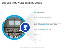 Step 3 Identify Award Eligibility Criteria Ppt Powerpoint Presentation Model File Formats