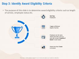 Step 3 Identify Award Eligibility Criteria Service Ppt Powerpoint Presentation Styles Designs