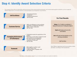 Step 4 Identify Award Selection Criteria Performance Ppt Powerpoint Presentation Professional Mockup