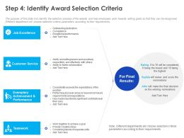Step 4 Identify Award Selection Criteria Ppt Powerpoint Presentation Infographics Tips