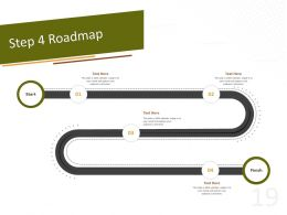 Step 4 Roadmap C1508 Ppt Powerpoint Presentation Show Infographic Template