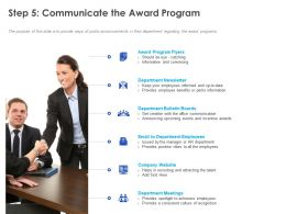 Step 5 Communicate The Award Program Ppt Powerpoint Presentation Slides Gallery