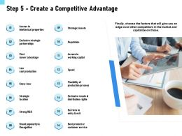 Step 5 Create A Competitive Advantage Strategic Ppt Powerpoint Presentation Model Good
