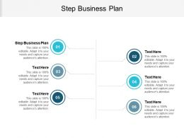 Step Business Plan Ppt Powerpoint Presentation Gallery Guidelines Cpb
