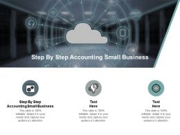 Step By Step Accounting Small Business Ppt Powerpoint Presentation Inspiration Layout Ideas Cpb