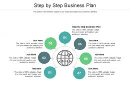 Step By Step Business Plan Ppt Powerpoint Presentation Infographic Design Cpb