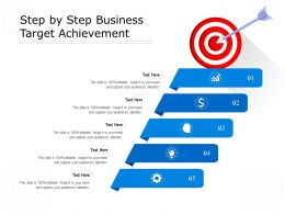 Step By Step Business Target Achievement