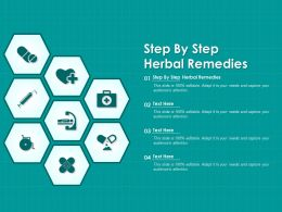 Step By Step Herbal Remedies Ppt Powerpoint Presentation Professional Graphic Tips