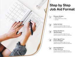 Step By Step Job Aid Format