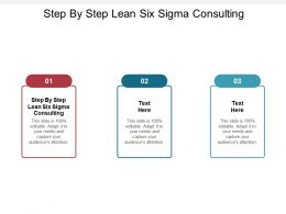 Step By Step Lean Six Sigma Consulting Ppt Powerpoint Presentation Layout Cpb