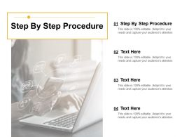 Step By Step Procedure Ppt Powerpoint Presentation Infographic Template Example 2015 Cpb
