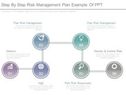 Step By Step Risk Management Plan Example Of Ppt