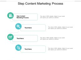 Step Content Marketing Process Ppt Powerpoint Presentation Summary Backgrounds Cpb