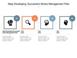 Step Developing Successful Stress Management Plan Ppt Powerpoint Presentation Cpb