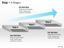 Step Diagram With 3 Stages And Growth Arrow 21