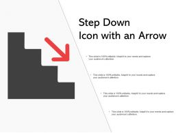 Step Down Icon With An Arrow