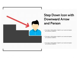 Step Down Icon With Downward Arrow And Person