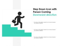 Step Down Icon With Person Coming Downward Direction