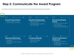 Step Five Communicate The Award Program Flyers Ppt Powerpoint Presentation Professional