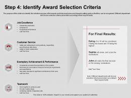 Step Four Identify Award Selection Criteria Excellence Ppt Powerpoint Presentation Visual Aids