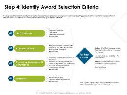 Step Four Identify Award Selection Criteria Teamwork Ppt Powerpoint Presentation Styles Mockup