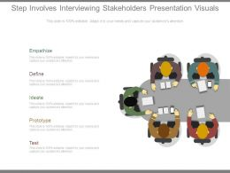 Step Involves Interviewing Stakeholders Presentation Visuals
