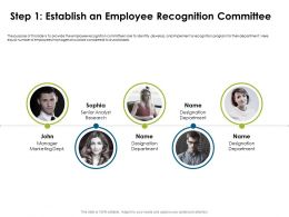 Step One Establish An Employee Recognition Considered Ppt Powerpoint Presentation Styles Icons