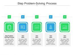 Step Problem Solving Process Ppt Powerpoint Presentation Portfolio Topics Cpb
