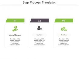 Step Process Translation Ppt Powerpoint Presentation Show Designs Cpb