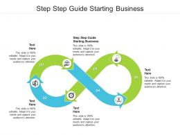 Step Step Guide Starting Business Ppt Powerpoint Presentation Model Infographic Template Cpb