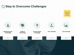Step To Overcome Challenges Ppt Powerpoint Presentation Outline Deck
