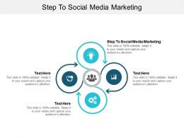 Step To Social Media Marketing Ppt Powerpoint Presentation Summary Rules Cpb